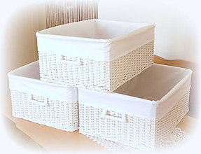 Košíky - Košík - v bielom šate - 10647951_