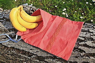 Úžitkový textil - Zero waste ľudové vrecúško s krajkou - 10647913_