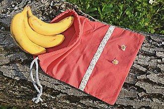 Úžitkový textil - Zero waste ľudové vrecúško - 10648060_