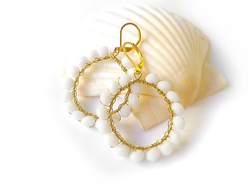 f3709d1b2a9c Venčekové kruhy (biela)   Sharon.handmade - SAShE.sk - Handmade Náušnice