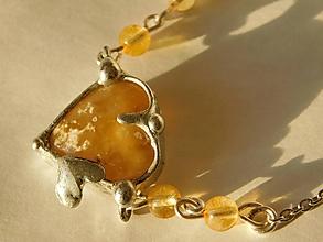 Náhrdelníky - Opálové srdce,tiffany - 10651868_