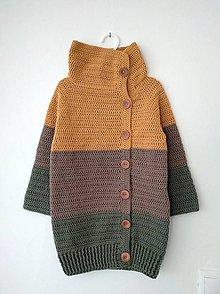 Detské oblečenie - Svetrík v zemitých farbách - 10651904_