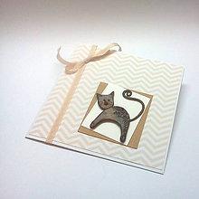 Papiernictvo - Pohľadnica ... príbeh o mačičke - 10651419_