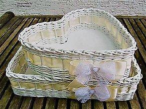 Dekorácie - Svadobné košíčky - menšie sady (dva košíčky so štrasom) - 10650439_