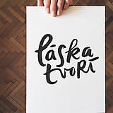 """Grafika - Typografia """"Láska tvorí"""" - 10650812_"""