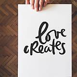 "Grafika - Typografia ""Love creates"" - 10650867_"