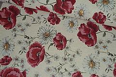 Textil - Látka Jacquard Maky a Margaréty - 10652139_