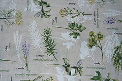Textil - Látka Bylinky na režnej - 10652163_