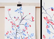 Reprodukcia akvarelu - Šípky