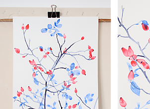 Obrazy - Reprodukcia akvarelu - Šípky - 10652030_