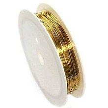 Komponenty - Medený drôt Zlatá 7 priemerov - 10651471_