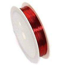 Komponenty - Medený drôt Červená 3 priemery - 10651494_