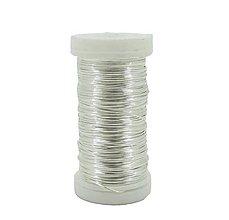 Komponenty - Medený drôt Strieborná 7 priemerov - 10651541_