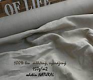 Textil - 100% len NATURAL 150g/m2 - 10651636_