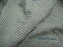 Textil - odstín BLUE/NATURAL stripes...100% len, š.163cm - 10651665_