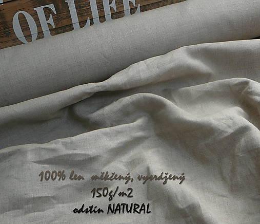 100% len NATURAL 150g/m2