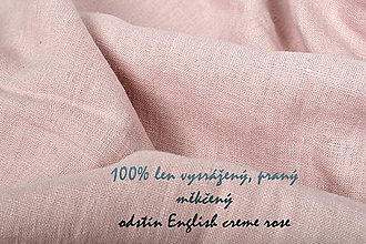 Textil - odstín ENGLISH CREME ROSE...100% len metráž - 10651661_