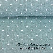 Textil - SPOT PALE MINT...100% len metráž - 10651692_