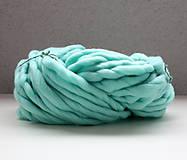Galantéria - Superhrubá pletacia priadza Mint modrá vlna 250g - 10651404_