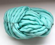 Galantéria - Superhrubá pletacia priadza Mint modrá vlna 250g - 10651405_