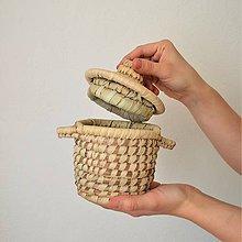 Krabičky - Prútená šperkovnica z palmových listov - 10650513_