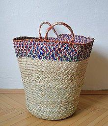 Košíky - Pletený palmový kôš (Veľká noc) - 10651693_