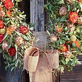 Dekorácie - Prírodný sušený veniec - 10650821_