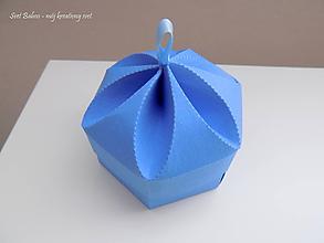 Krabičky - Mini-box na USB (Matná modrá s gumkou) - 10651859_