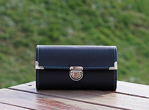 Peňaženky - Peněženka Černá, 12 karet, 3 kapsy, na fotky - 10651157_