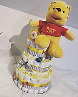 Detské doplnky - EvArt plienková torta - MACKO PÚ (big) - 10651246_