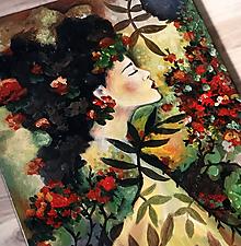 Obrazy - Rosamunda - maľba akrylom - 10650455_