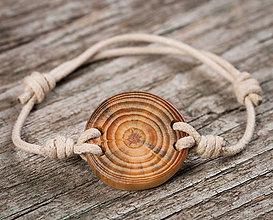 Náramky - Náramok z dreva prírodný - 10650423_