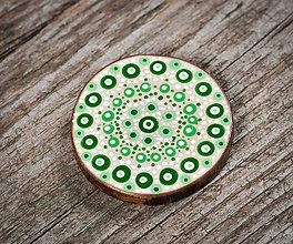 Magnetky - Magnetka - zelené bodky 2 - 10651123_