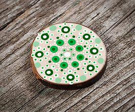 Magnetky - Magnetka - zelené bodky 3 - 10651214_