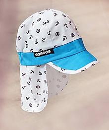 Detské čiapky - Kotvičková šiltovka s plachtičkou proti slnku - 10652218_