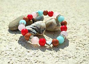 Náramky - Detský ochranný náramok z minerálnych kameňov - 10651145_