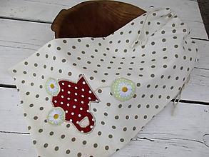 Úžitkový textil - veľké bodkaté vrecko - 10651793_