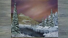 Obrazy - Zimný podvečer - 10651217_