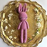 Hračky - Bunny háčkovaný zajačik - 10651251_