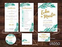Papiernictvo - Svadobné oznámenie LK050 - 10651202_