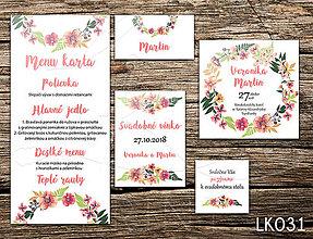 Papiernictvo - Svadobné oznámenie LK031 - 10650808_