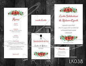 Papiernictvo - Svadobné oznámenie LK038 - 10650899_