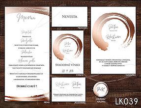 Papiernictvo - Svadobné oznámenie LK039 - 10650903_