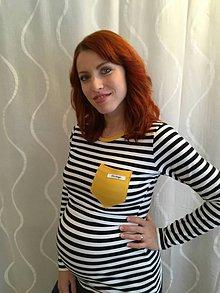 Tričká - Tričko na dojčenie- dlhý rukáv + vrecko - 10650959_