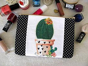 Taštičky - Taštička na mobil - Kaktus - 10651277_
