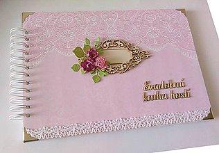 Papiernictvo - Svadobná kniha hostí A4 - 10650798_
