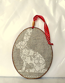 Dekorácie - maxi kraslica zajac - 10652171_