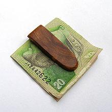 Tašky - Drevená spona na peniaze - špaltovaná hrušková - 10651062_
