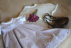 Detské oblečenie - Fialkové šatičky - 10651498_