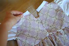Detské oblečenie - Fialkové šatičky - 10651499_